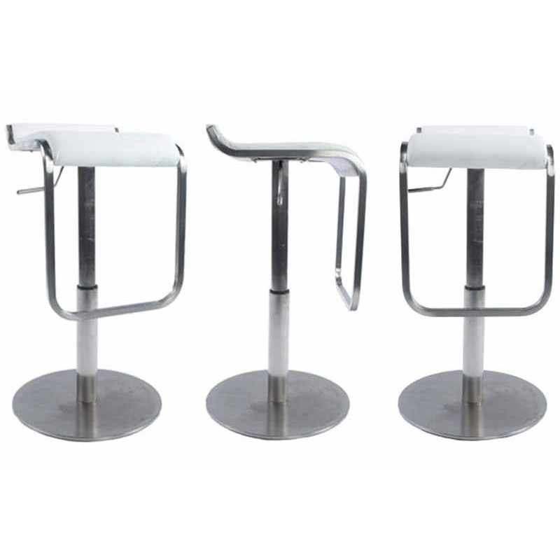 tabouret de bar premium blanc. Black Bedroom Furniture Sets. Home Design Ideas