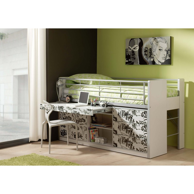 lit combin enfant bonny grafiti. Black Bedroom Furniture Sets. Home Design Ideas