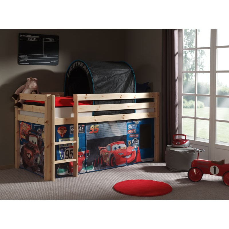 lit enfant pino cars 2 naturel. Black Bedroom Furniture Sets. Home Design Ideas