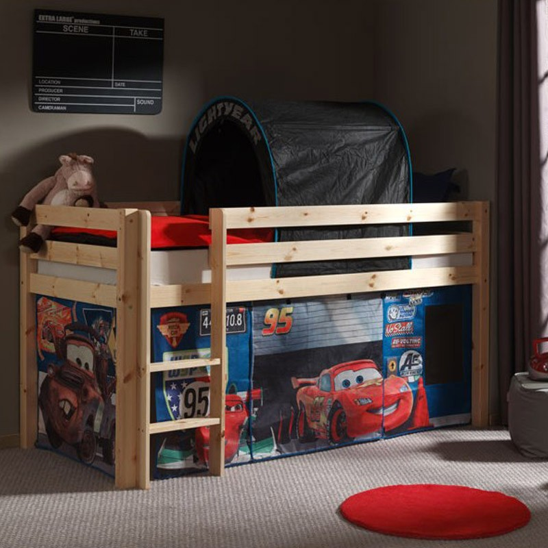 tente tunnel pour lit pino cars 2. Black Bedroom Furniture Sets. Home Design Ideas