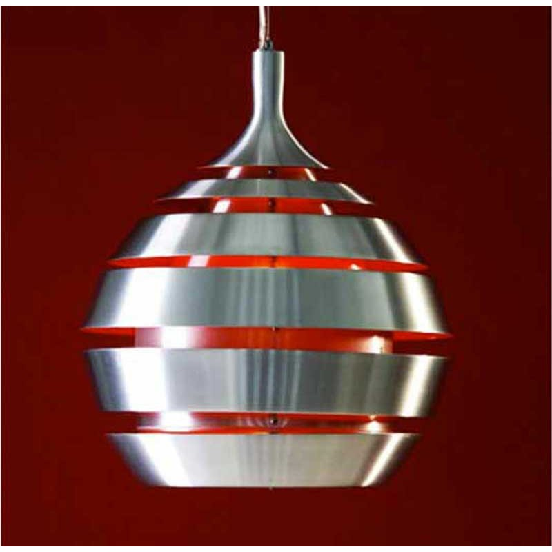 Lampe suspension ball rouge for Luminaire suspension rouge