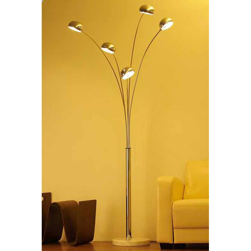 Lampadaire five chrome - Lampadaire 5 branches ...