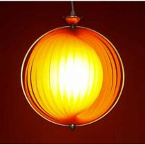 Lampe Suspension lamelle Orange