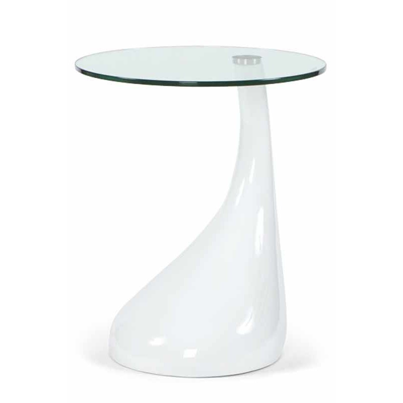 Table d 39 appoint design music blanche for Table basse blanche design