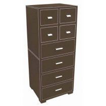 Commode 8 Tiroirs en Simili Cuir