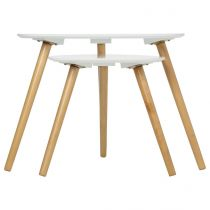 Set de 2 Tables d'appoint Mileo Blanc