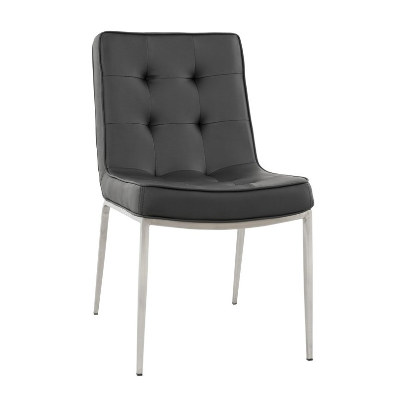 Chaise design confort noir for Chaise noir design