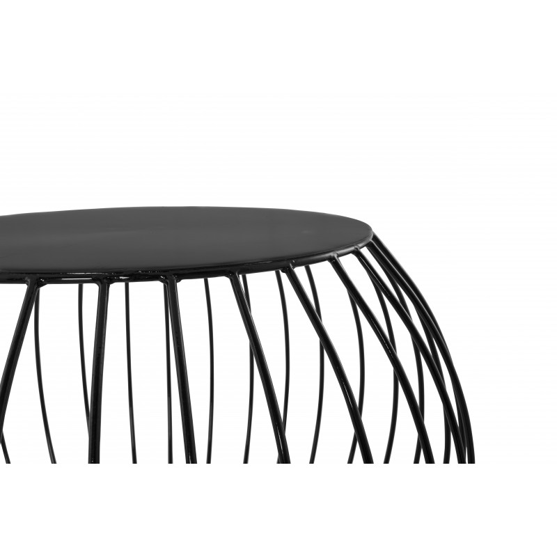 table d 39 appoint boule en m tal noir. Black Bedroom Furniture Sets. Home Design Ideas